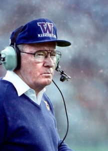 UW Coach Don James was instrumental in the start of the Morris Trophy.