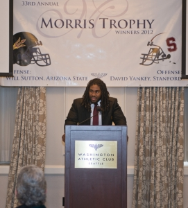 Will Sutton at the 2012 Morris Trophy lunch.